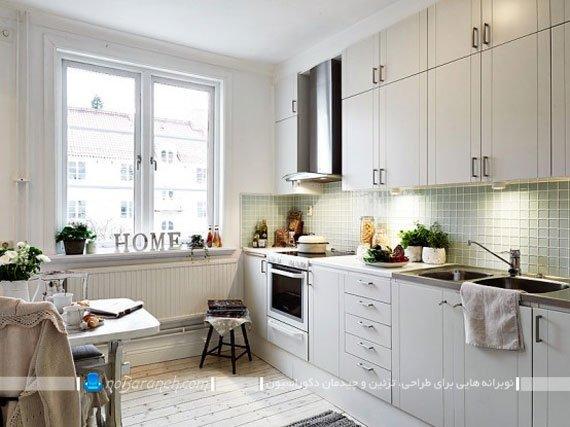 مدل کابینت ساده و شیک آشپزخانه با رنگ سفید