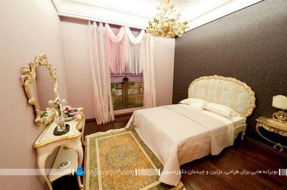 طراحی دکوراسیون سلطنتی در اتاق خواب عروس برج روما رزیدنس