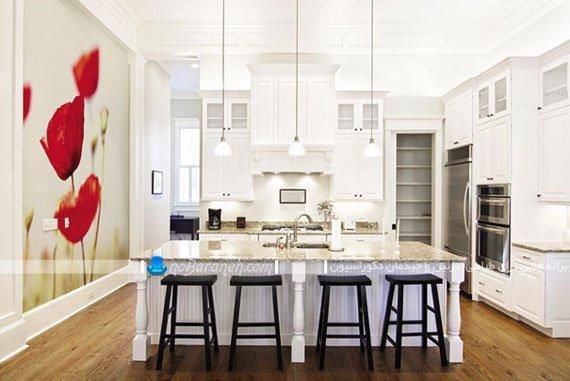پوستر دیواری تزیینی آشپزخانه با عکس گل شقایق