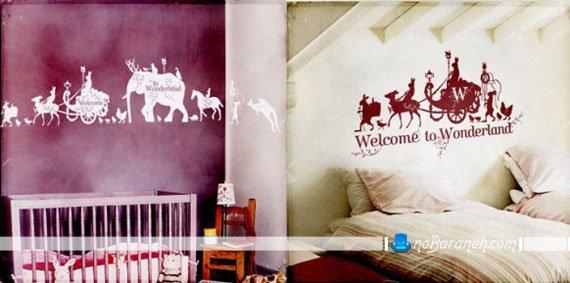 طرح جدید استیکر دیواری فانتزی برای اتاق نوزاد