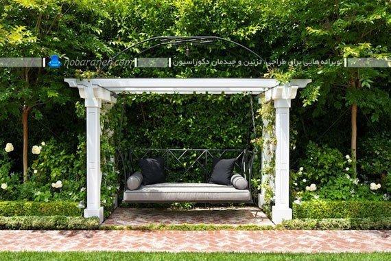 تاب خانگی فانتزی و سلطنتی برای حیاط منزل و حیاط ویلا و فضای باغی با طرح جدید شیک.
