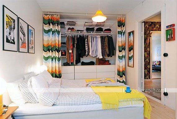 اتاق عروس با طراحی دکوراسیون و رنگ بندی شاد / عکس
