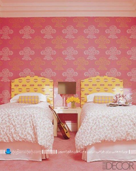 تزیین اتاق کودکان دوقلوی دختر با رنگ های شاد