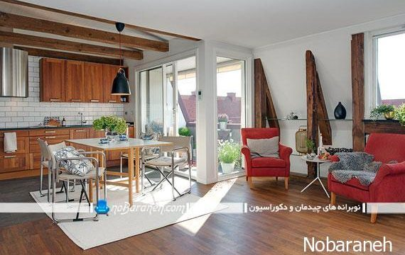 طراحی دکوراسیون مینیمالیستی در خانه 80 متری