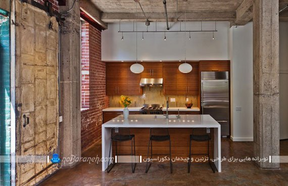 تزیین دیوار آشپزخانه با سنگ های تزیینی