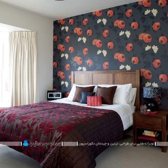 تزیین اتاق خواب با طرح گل ها / عکس