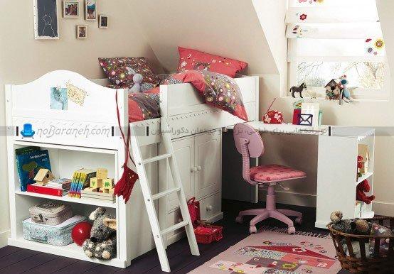 عکس و مدل تخت خواب و اتاق خواب دخترانه / عکس