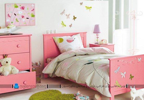 مدل اتاق خواب و تخت خواب دخترانه / عکس