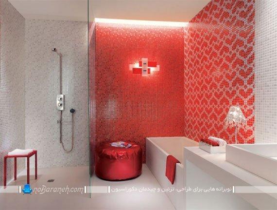 تزیین دکوراسیون داخلی حمام و دستشویی با کاشی و سرامیک طرح ریز / عکس
