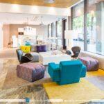 طراحی و دیزاین دکوراسیون اداری با تکیه بر رنگ های شاد