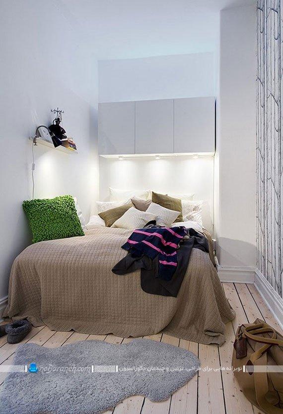 دیزاین و چیدمان اتاق خواب خیلی کوچک