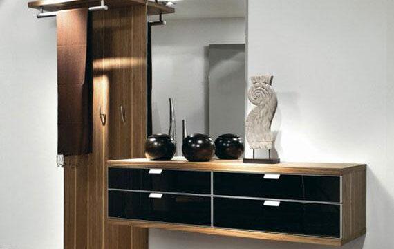 مدل رخت آویز و جاکفشی آینه دار و مدرن