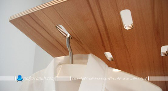جالباسی چوبی ظریف و مدرن / عکس