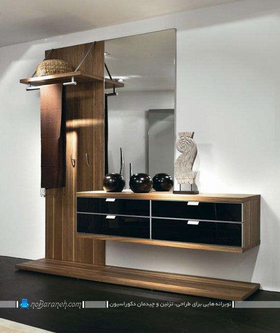 مدل جاکفشی و جالباسی mdf آینه دار