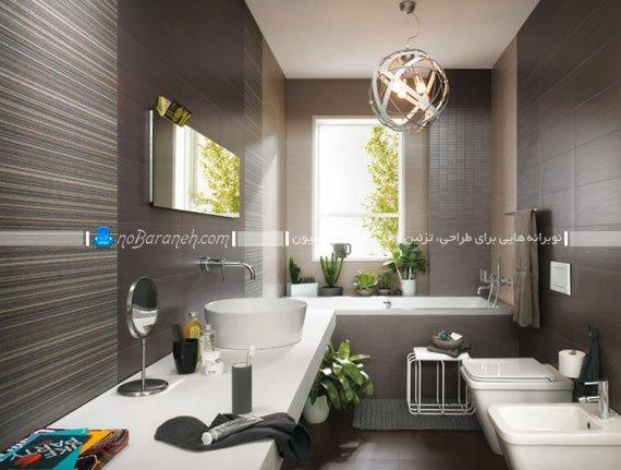 مدل های متنوع کاشی و سرامیک دیوار حمام و دستشویی / عکس