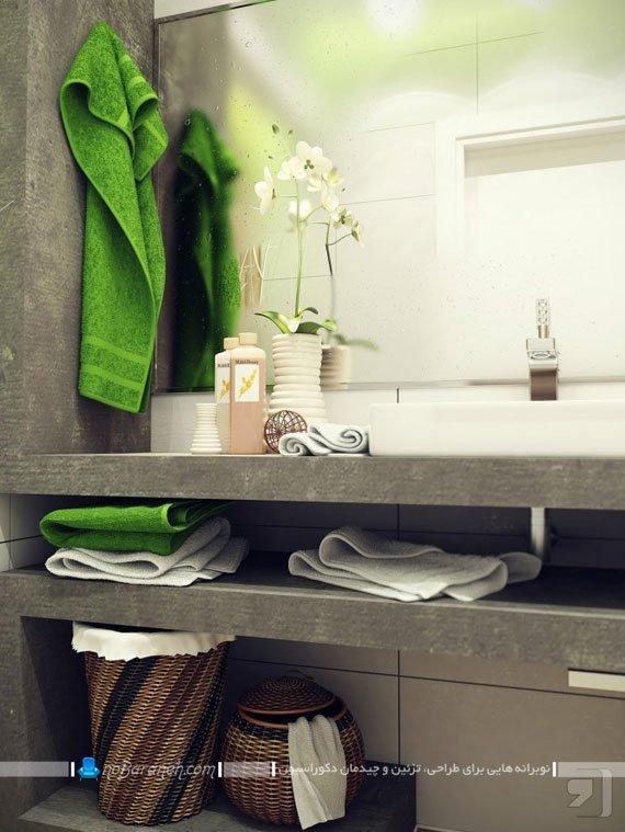 قفسه بندی و طبقه بندی سنگی در سرویس بهداشتی / عکس