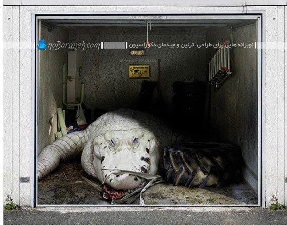 استیکر دیواری سه بعدی با طرح حیوانات