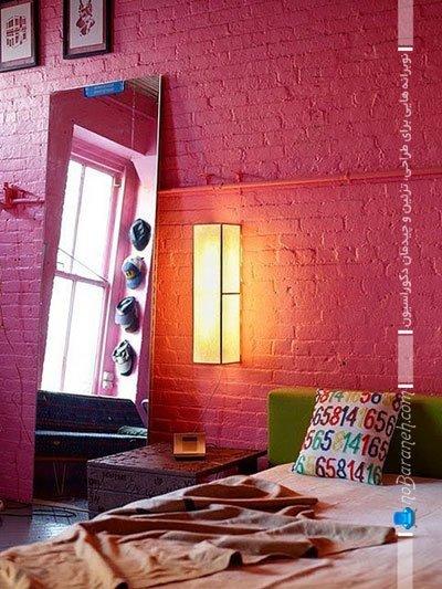 تزیین دکوراسیون اتاق خواب با رنگ صورتی / عکس