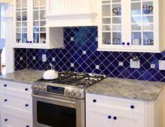 مدل جدید نصب کابینت های آشپزخانه به شکل لوزی