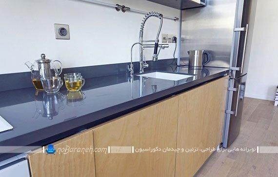 مدل کابینت مدرن آشپزخانه کوچک آپارتمانی / عکس