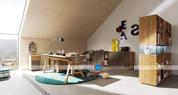 مدل پارتیشن بندی دکوراسیون داخلی اتاق خواب نوجوان / عکس