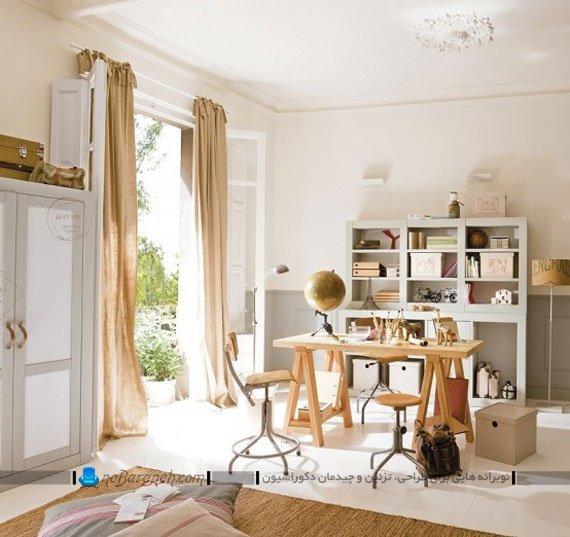 مدل میز تحریر چوبی اتاق بچه / عکس
