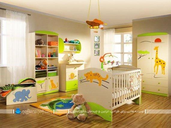 تزیین اتاق کودک با استیکر حیوانات