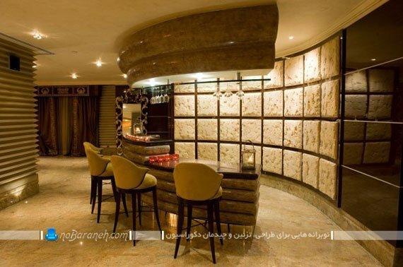 طراحی و اجرا کافه تریا خانگی ، مدل دیوارپوش های سنگی مدرن و زیبا، ساخت کافه تریا و کافی شاپ در فضای داخلی خانه