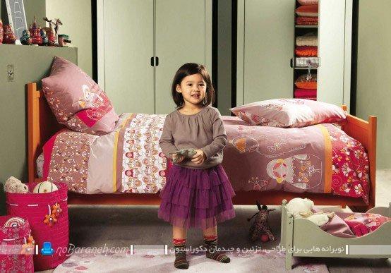 طراحی دکوراسیون شیک و ساده اتاق کودک دختر / عکس