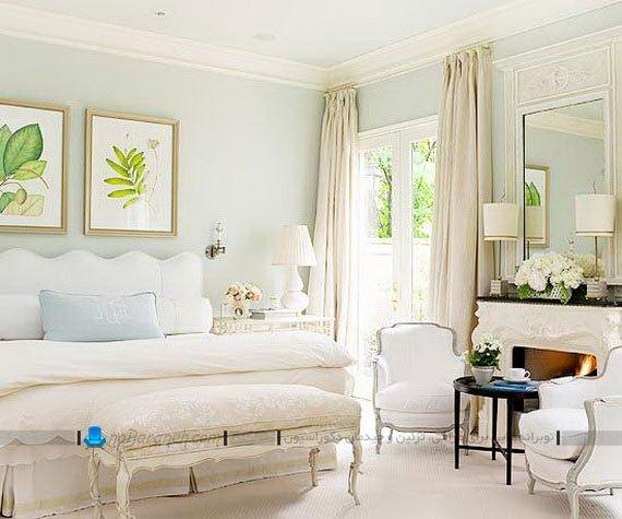 رنگ آمیزی اتاق خواب با سفید و کرم