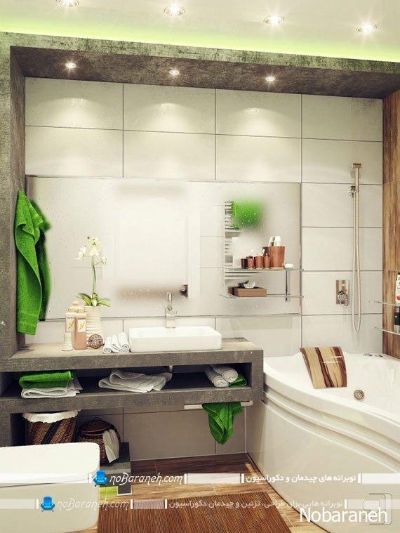 نورپردازی حمام و دستشویی با چراغ توکار هالوژن