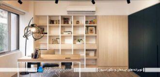 طراحی دکوراسیون اتاق خواب به شکل چوبی و مدرن