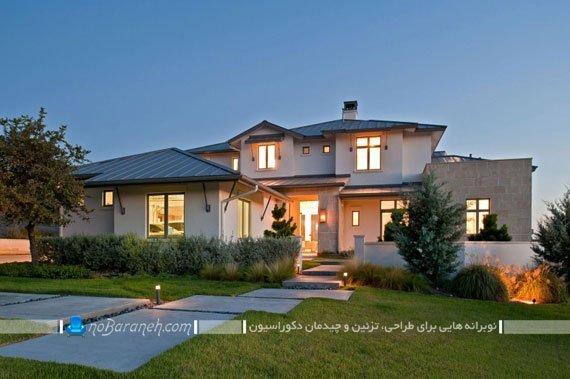 نمای بیرونی خانه ویلایی شیک و زیبا