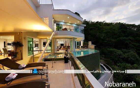 دکوراسیون و نمای خارجی مدرن خانه ویلایی
