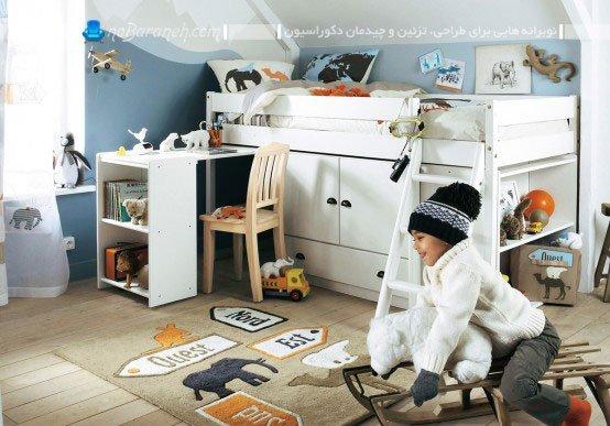 مبل و سرویس خواب اتاق بچه پسر
