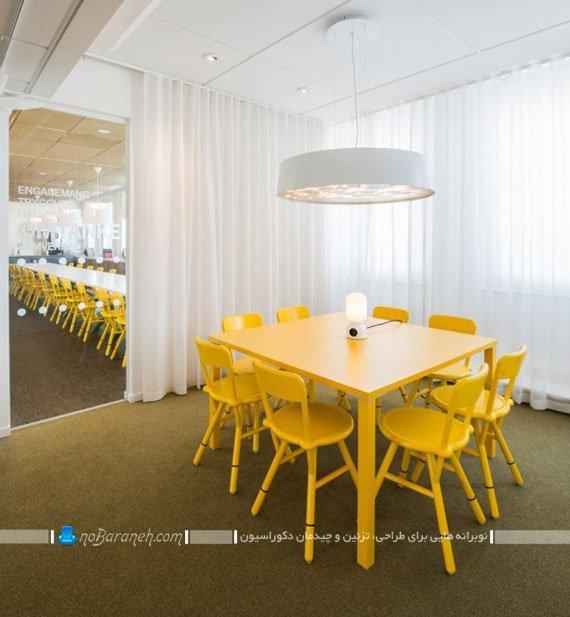 طراحی دکوراسیون اتاق میتینگ 8 نفره / عکس