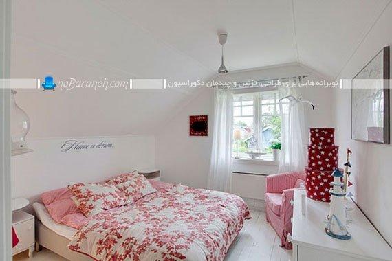 مدل چیدمان اتاق خواب عروس و دیزاین آن با سفید و صورتی