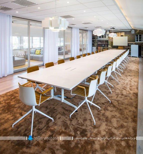 دکوراسیون سالن بزرگ برای برگزاری جلسات چند نفره / عکس