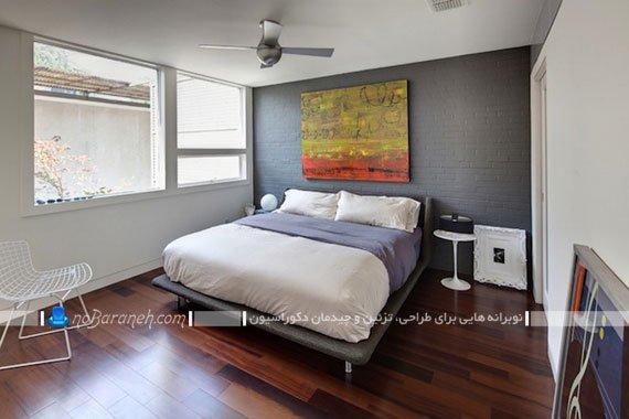دیوارپوش طرح آجر اتاق خواب