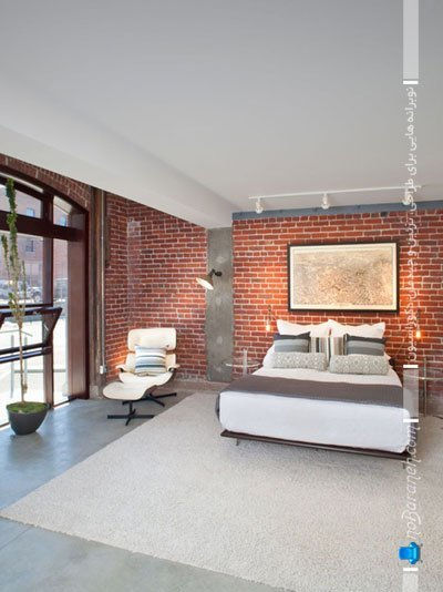 دیوارپوش سنگی طرح آجر برای دیزاین اتاق عروس