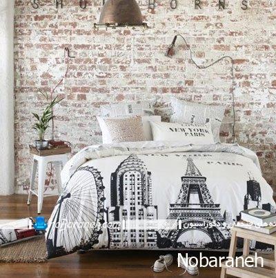 پوشش و تزیین دیوار داخلی خانه با سنگ آنتیک آجر شکل