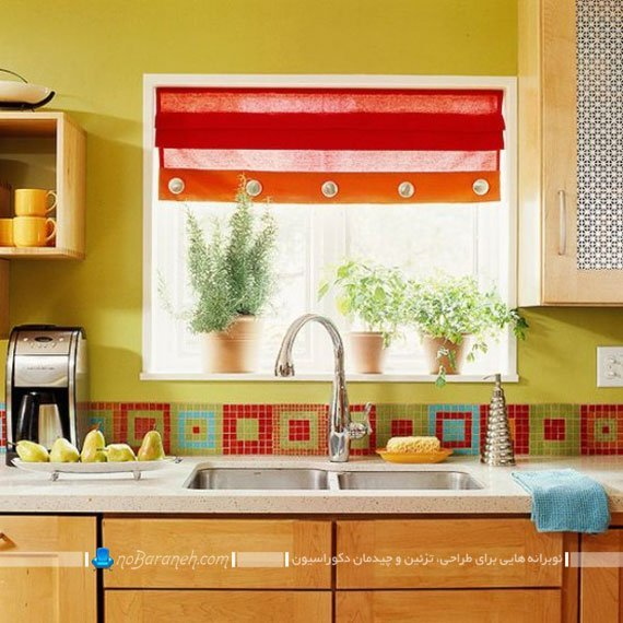 دیوارپوش ظریف و ساده آشپزخانه
