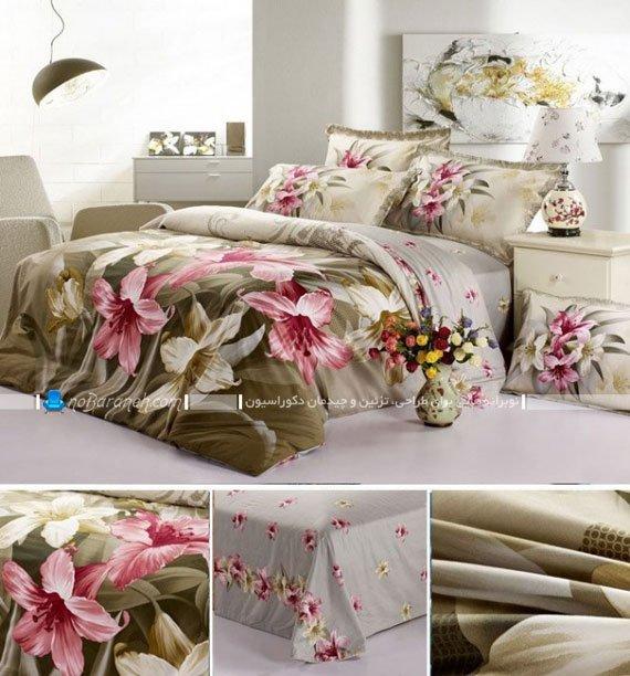 مدل روتختی دو نفره شیک و گل دار برای اتاق عروس