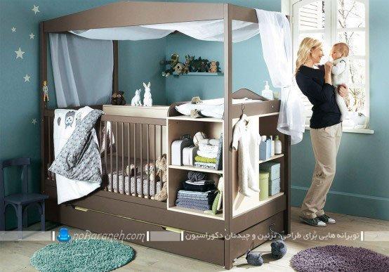 طراحی دکوراسیون و مدل سیسمونی پسرانه اتاق نوزاد، تزیین اتاق خواب نوزاد