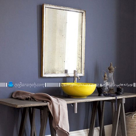 رنگ آمیزی دیوارهای روشویی و دستشویی / دکوراسیون