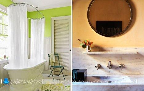 رنگ آمیزی سرویس بهداشتی با رنگهای شاد