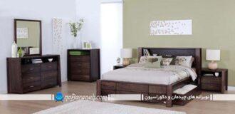 مدل سرویس خواب اتاق عروس با رنگ قهوه ای
