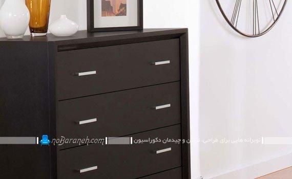 مدل دراور شیک و چوبی اتاق خواب