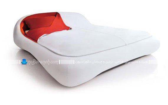 سرویس خواب دو نفره با رنگ سفید و اسپرت