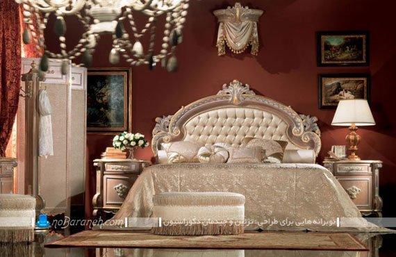 مدل اتاق عروس سلطنتی با زرشکی و کرم